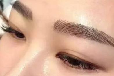 纹眉后眉毛的类型